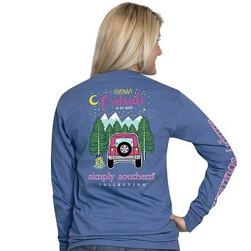 "Simply Southern ""Preppy Think"" Jeep Long Sleeve Tee"