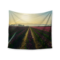 "Robin Dickinson ""Here Comes The Sun"" Flower Landscape Wall Tapestry"