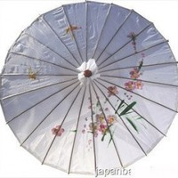 Japanese Chinese Umbrella Parasol 32in White 156-15