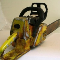 Original CHAINSAW used in HALLOWEEN RESURRECTION and SCARY MOVIE 3 PROP