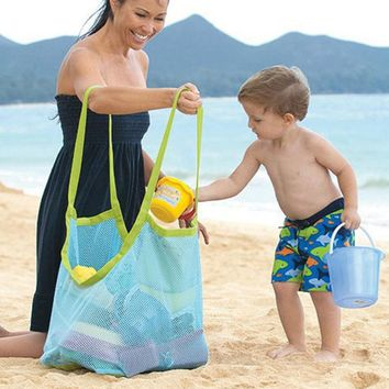 1PCS Extra Large Size Sand Away Beach Mesh Bag Clothes Towel Bag For Travel Accessories 2 Colors