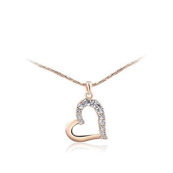 Gift Shiny New Arrival Stylish Jewelry Crystal Heart Necklace [9281903748]