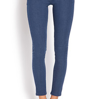 FOREVER 21 Favorite Ankle-Length Skinny Jeans Medium Denim