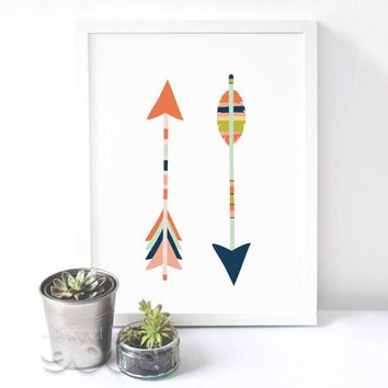 Cartoon Colorful Arrows Canvas Art Print Poster, Wall Pictures for Home Decoration, Wall Decor FA238-11