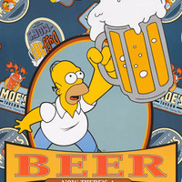 Homer Simpson Beer Quote 2001 Poster 25x35