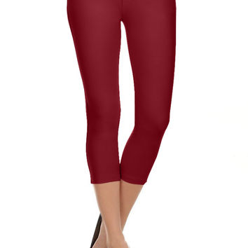 Capri Jeggings for Women Pull On High Waisted Jeggings Skinny Jeans with Pockets