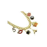 Gold & Multi Mixed Parisian Charms Necklace