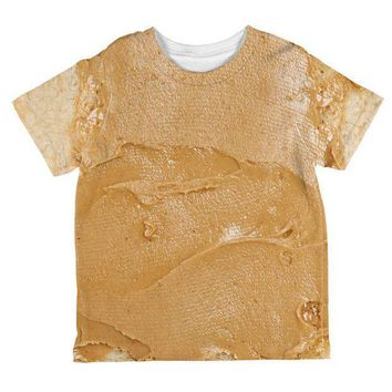 ESBGQ9 Halloween Peanut Butter PB Sandwich Costume All Over Toddler T Shirt