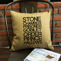 Always Harry Potter Pillow Cover, Harry potter throw pillow, Stone chamber prisoner goblet order, cotton canvas pillow cover Gift