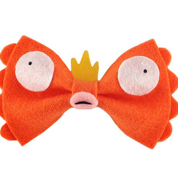Pokemon Anime Magikarp Hair Bow Awesome Koi King Fish