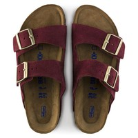 Birkenstock Arizona Soft Foot Bed Suede - Burgundy
