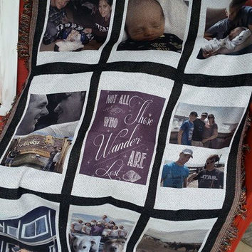 Custom & Personalized Photo Blankets MOTHERS DAY!! Memory Blanket