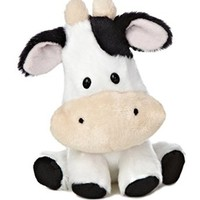 "Aurora World Wobbly Bobblee Cow Plush, 6"" Tall"