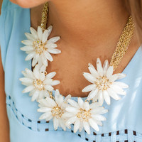 How Your Garden Grows Necklace, Ivory