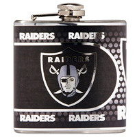 Oakland Raiders Stainless Steel 6 oz. Flask with Metallic Graphics