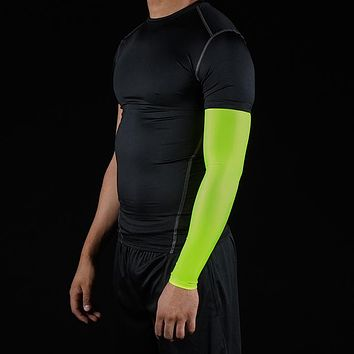 Solid Safety Yellow Arm Sleeve