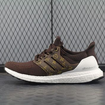 Adidas Boost UB 3.5 Louis Vuitton x Women Men Fashion Trending Running Sports Shoes Sneakers Khaki