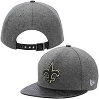 New Orleans Saints New Era Step Out 9FIFTY Adjustable Hat – Gray/Black