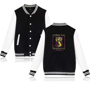 Trendy 2018 New Cobra Kai Winter Jacket Men's Fashion Baseball Jacket Cobra Hipster Brand Casual Harajuku Autumn Jacket A5372 AT_94_13