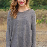Over The Part Sweater-Grey