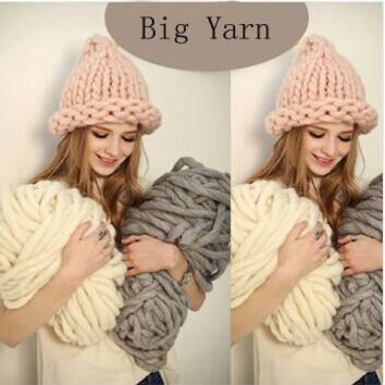 Korea Katie Fashion Thick Big Yarn For Hat & Scarf Thick Knitt