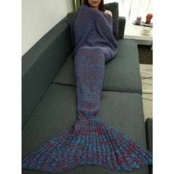 Classical Crochet Knitting Fish Scales Design Mermaid Tail Style Blanket