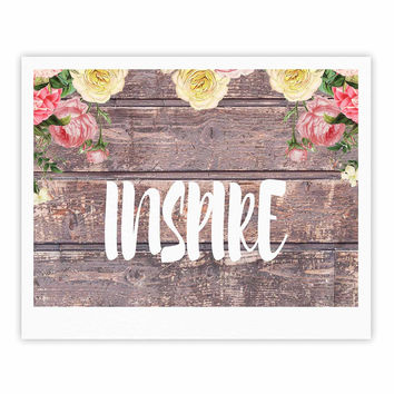 """Suzanne Carter """"Inspire"""" Contemporary Typography Fine Art Gallery Print"""