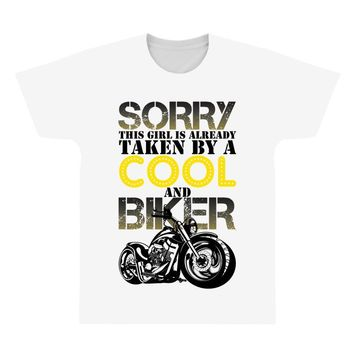 Sorry This Girl Is Already Takenby a Cool And Biker All Over Men's T-shirt
