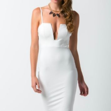 Plunge Dress - Available in White and Black