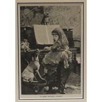 """Pre-owned """"A Song without Words"""" Original 1888 US Engraving"""