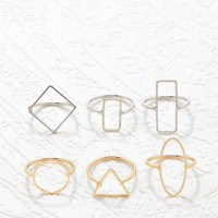 Geo Shapes Ring Set