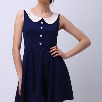 ROMWE | Peter Pan Collar Sleeveless Dress(Arrival on 10th), The Latest Street Fashion