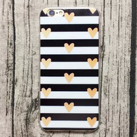 Heart-shaped Stripe iPhone 5s 6 6s Plus Case + Gift Box-130