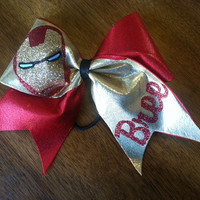 Iron Man Inspired Cheer Bow