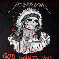 YEEZUS Tee Shirt Unisex Kanye West, God Wants You, Women Men GirlsT shirt, God Wants You Tshirt, Indian Yeezus Tshirts