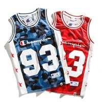 Bape & Champion Women Men Casual Sportswear Vest Top