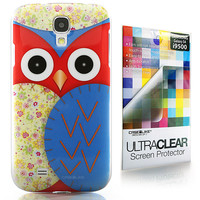 Owl Graphic Design 3301 back cover, Samsung Galaxy S4, Blue