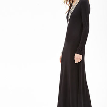 FOREVER 21 Long-Sleeved Maxi Dress