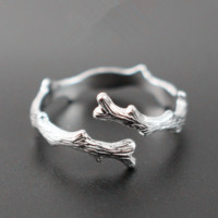 Womens Branch Sterling 925 Silver Engament Love Ring