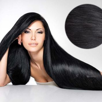 New 5 Pieces 100% Real Clip in Remy Human Hair Extensions Full Head Highlight