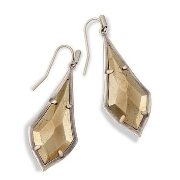 Kendra Scott - Limited Winter Seasonal - Olivia Pyrite Silver Drop Earring