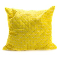 Origami Pillow 50x50 - Ylw/Wht