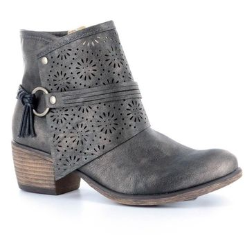 Tootsie Pewter Ankle Boot