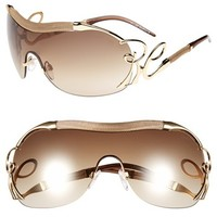 Roberto Cavalli 'Botein' Shield Sunglasses