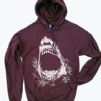 Unisex - SHARK - Flex Fleece Pullover Classic Hoody Sweatshirt - American apparel (2 Color Options)