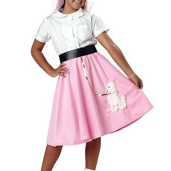 Child Costumes Poodle Skirt (Small,Pink)