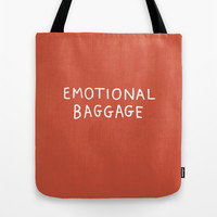 Emotional Baggage Tote Bag by Gemma Correll