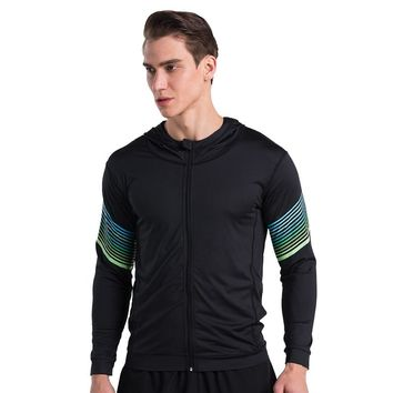 Men Running Run Jacket Sweaters Hoody Fitness Exercise Outdoor Sports Soccer Football Training Gym Jogging Jogger Jackets