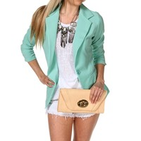 Aqua Seafoam Business Blazer
