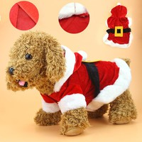 Christmas Dog Clothes Santa Costume Pet Dog Christmas Clothes Chihuahua Coat Clothing Cute Puppy Outfit for Dog Yorkie 35S1